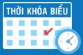 Thời khóa biểu HK1 Năm học 2016-2017, áp dụng từ 28.08.2017